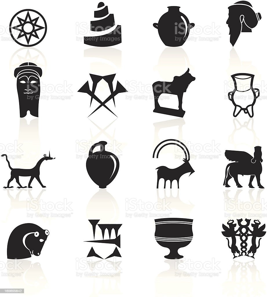Black Symbols - Mesopotamia royalty-free stock vector art