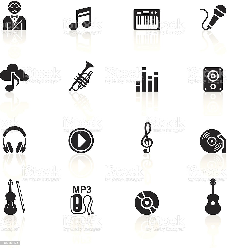 Black Symbols - Music vector art illustration