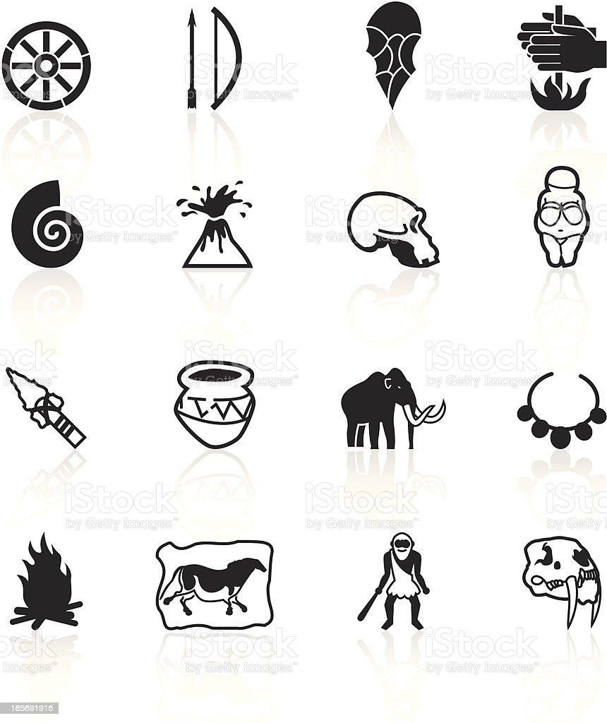 Black Symbols - Prehistory vector art illustration