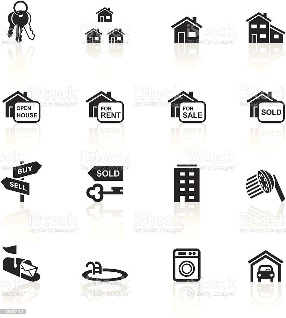 Black Symbols - Real Estate royalty-free stock vector art