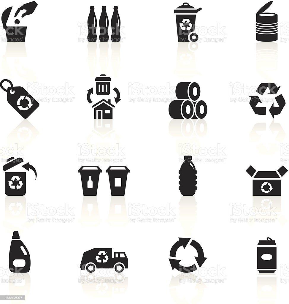Black Symbols - Recycle vector art illustration