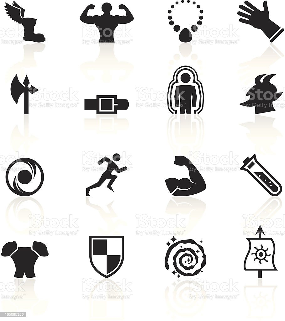Black Symbols - Role Playing Games vector art illustration
