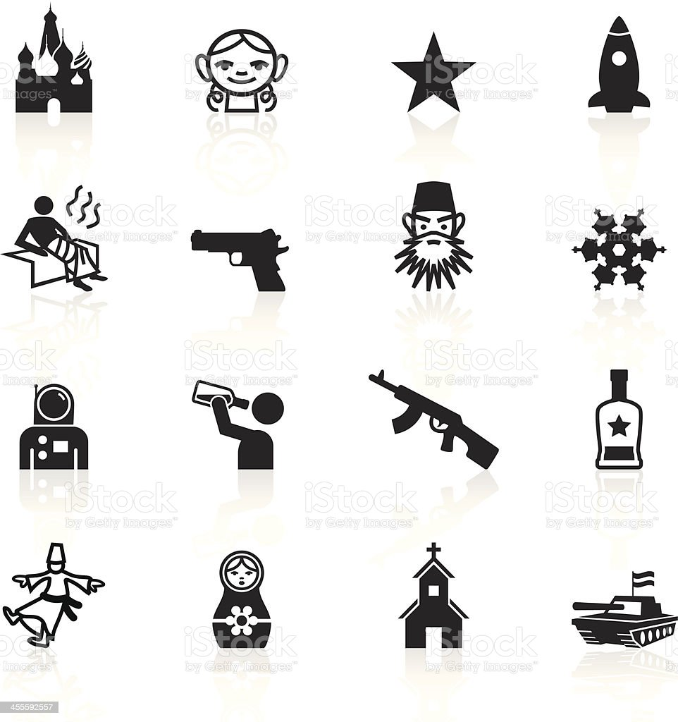 Black Symbols - Russia royalty-free stock vector art