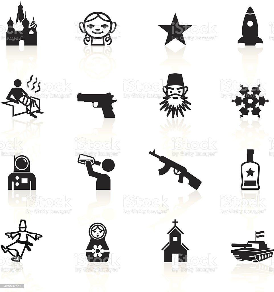 Black Symbols - Russia vector art illustration