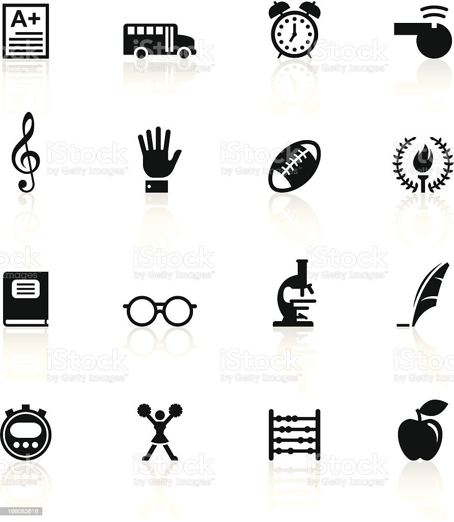 Black Symbols - School vector art illustration