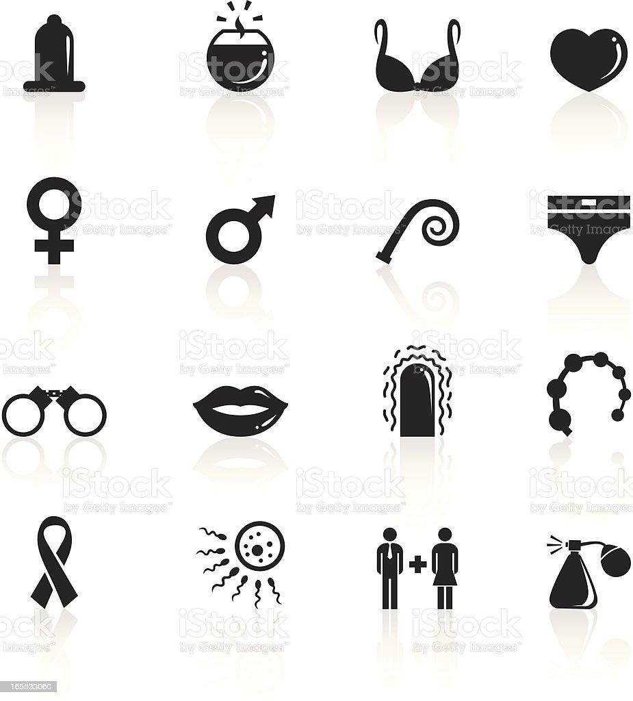 Black Symbols - Sex vector art illustration