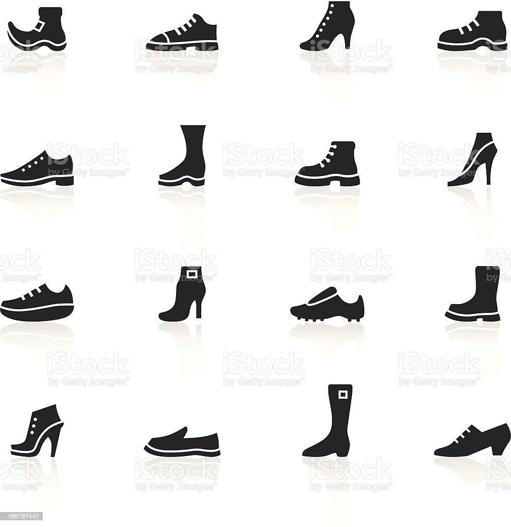 Black Symbols - Shoes vector art illustration