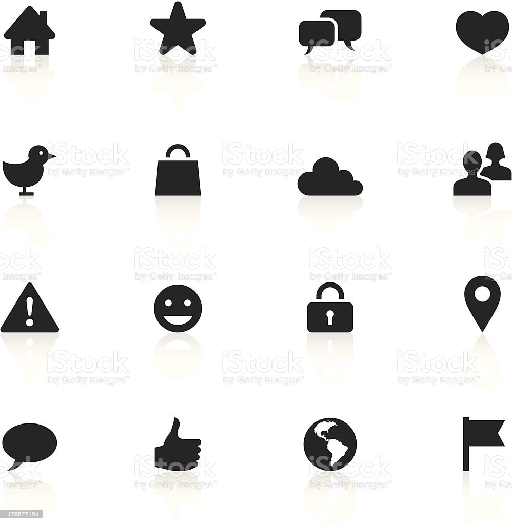 Black Symbols - Social Network royalty-free stock vector art
