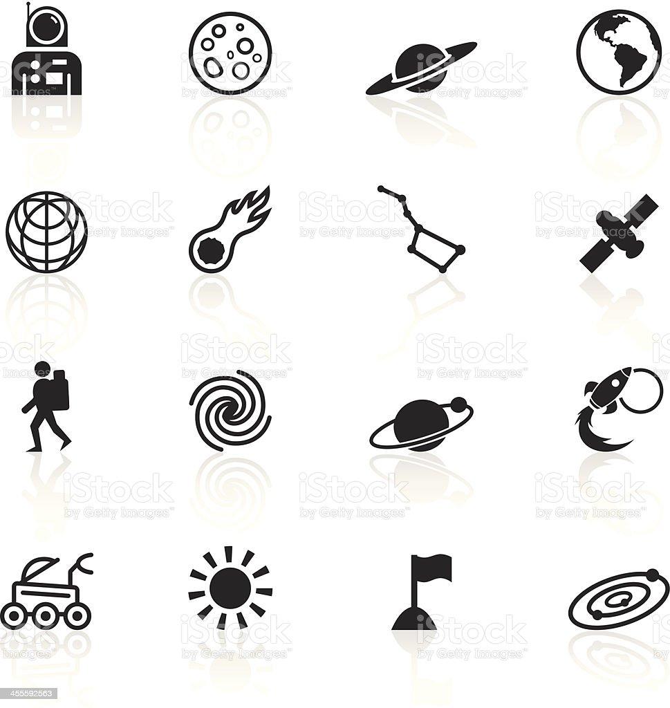 Black Symbols - Space vector art illustration