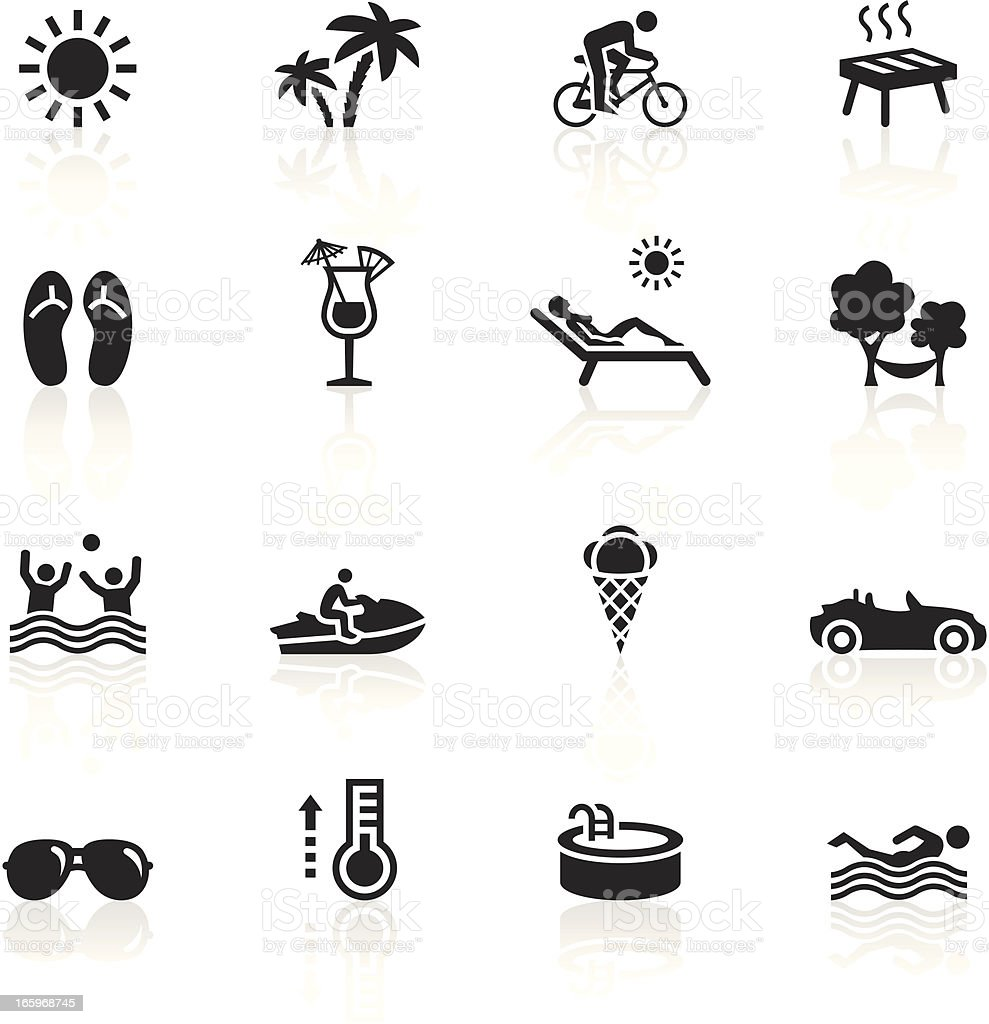 Black Symbols - Summertime vector art illustration