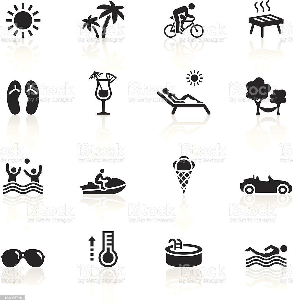 Black Symbols - Summertime vector art illustration