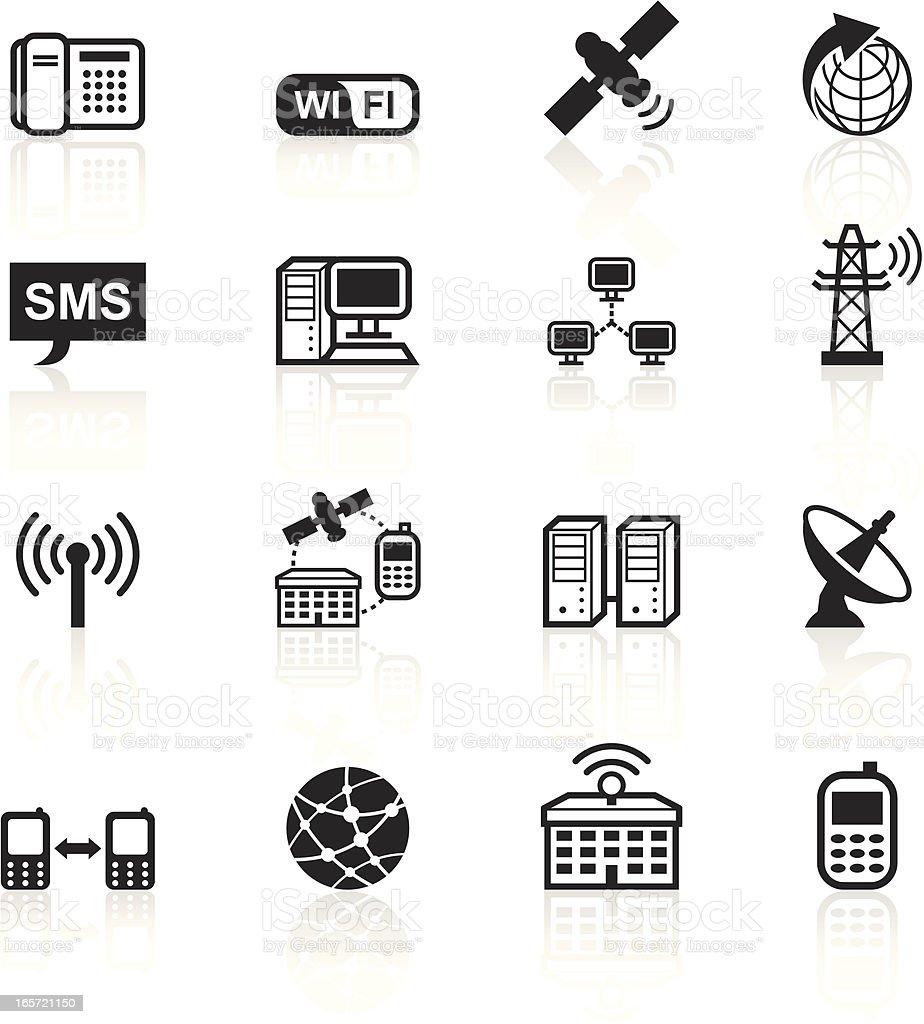 Black Symbols - Telecommunications royalty-free stock vector art