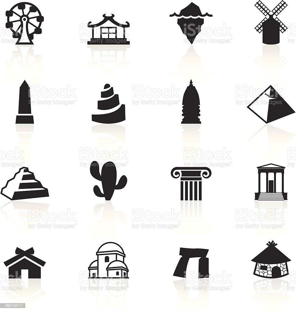 Black Symbols - Travel royalty-free stock vector art