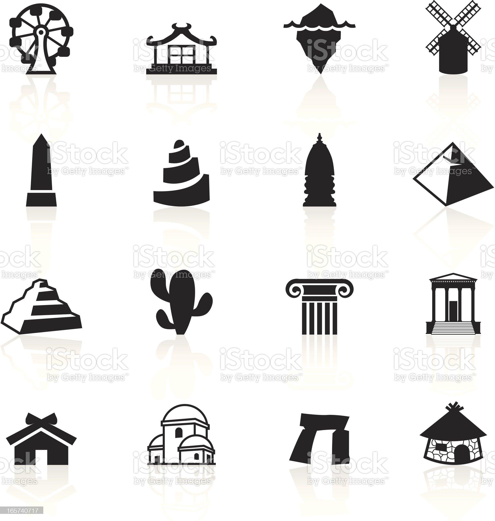 Black Symbols - Travel royalty-free stock vector art