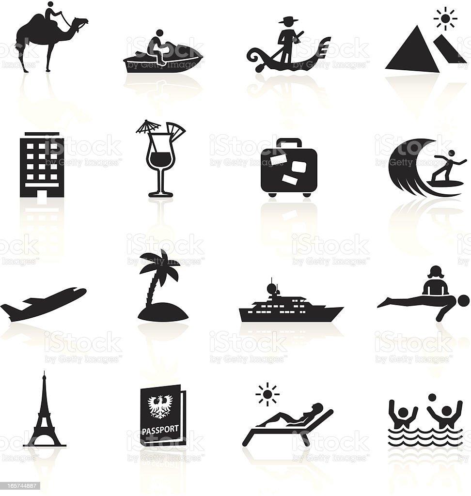 Black Symbols - Vacation vector art illustration