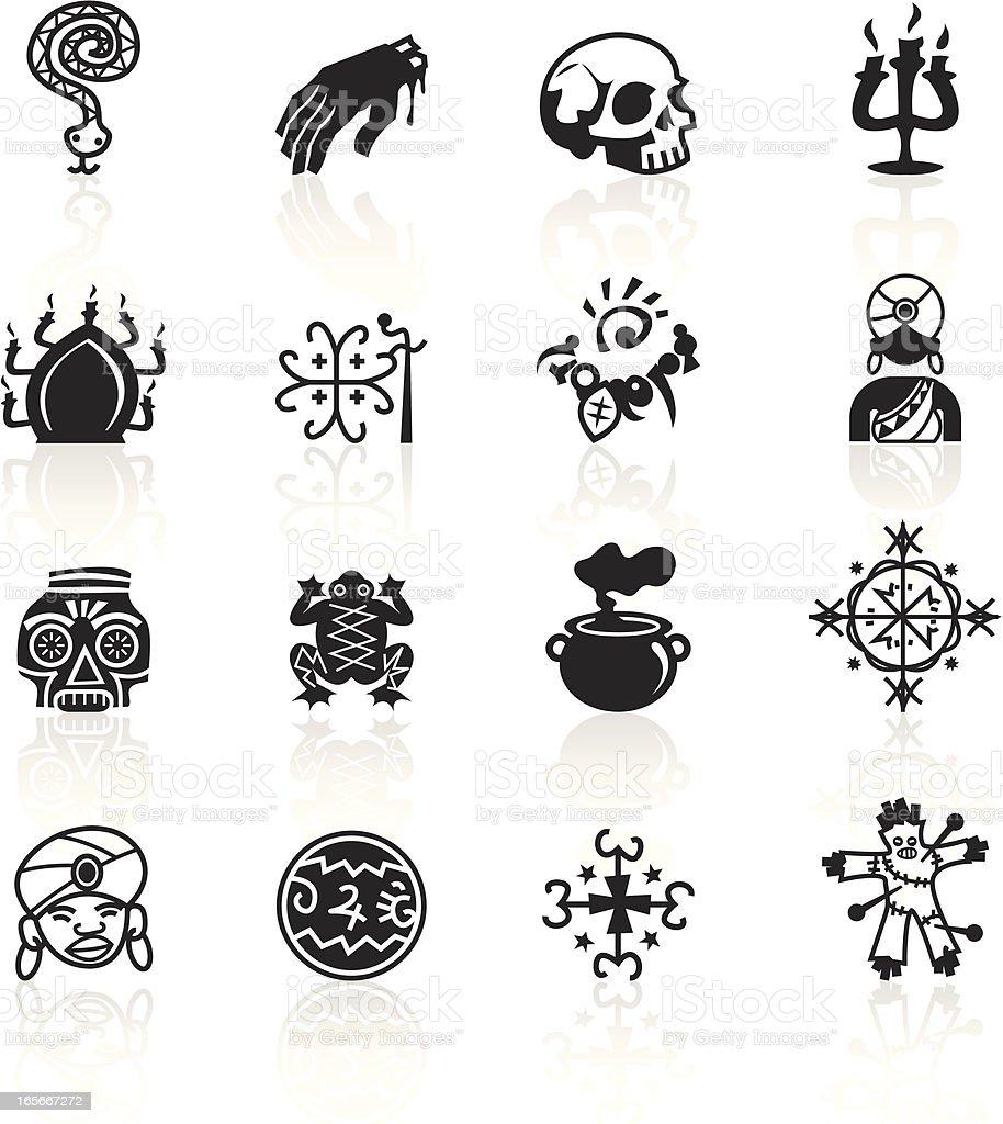 Black Symbols - Voodoo vector art illustration