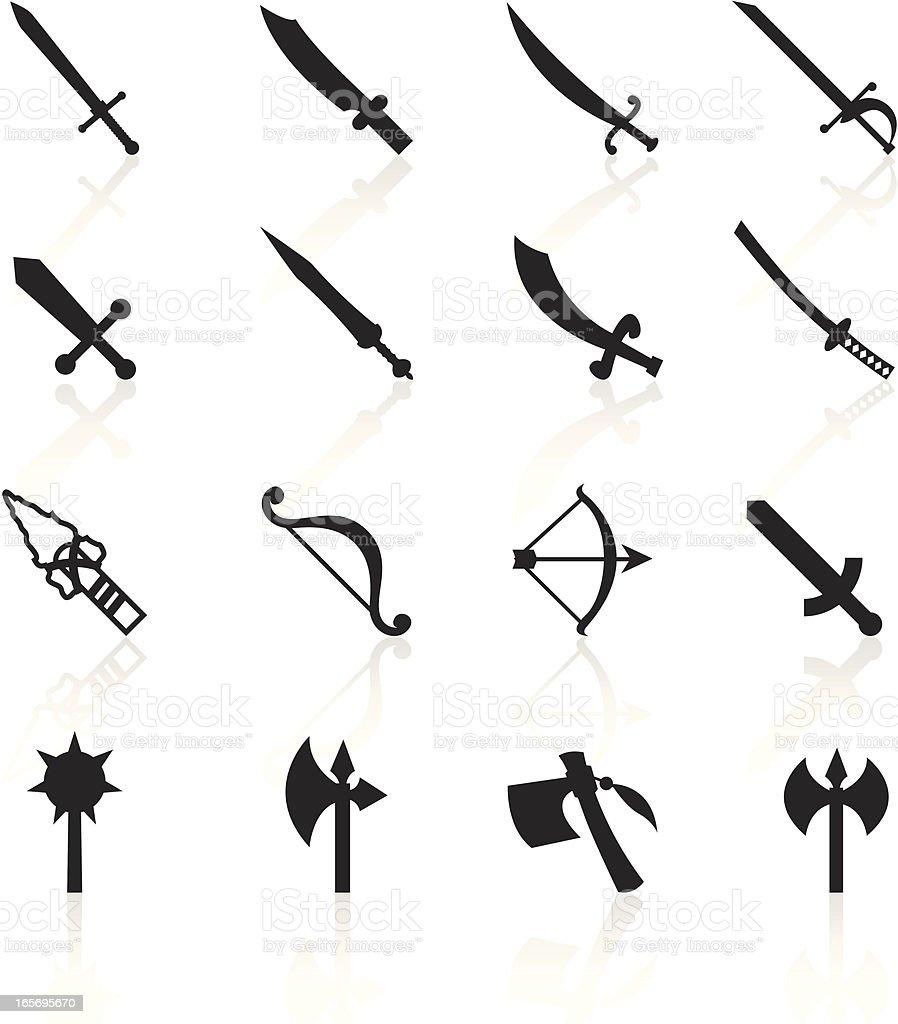 Black Symbols - Weapons vector art illustration