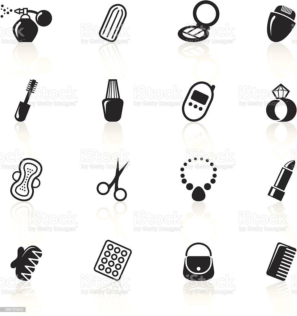Black Symbols - Woman's Accessories vector art illustration