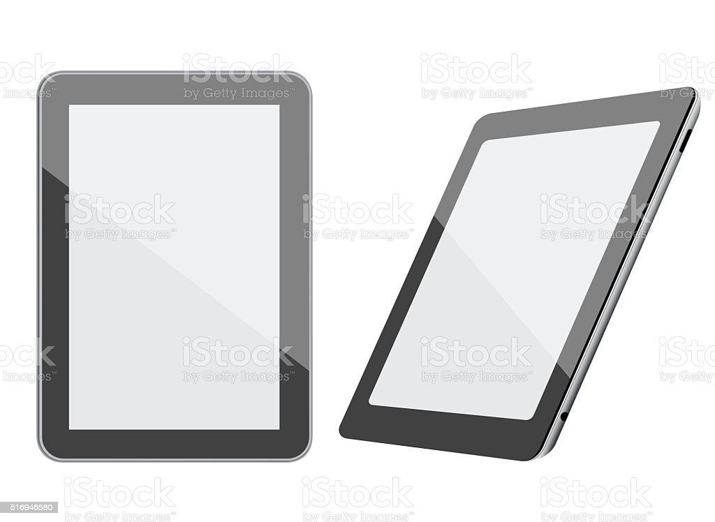 Black Tablet PC vector art illustration