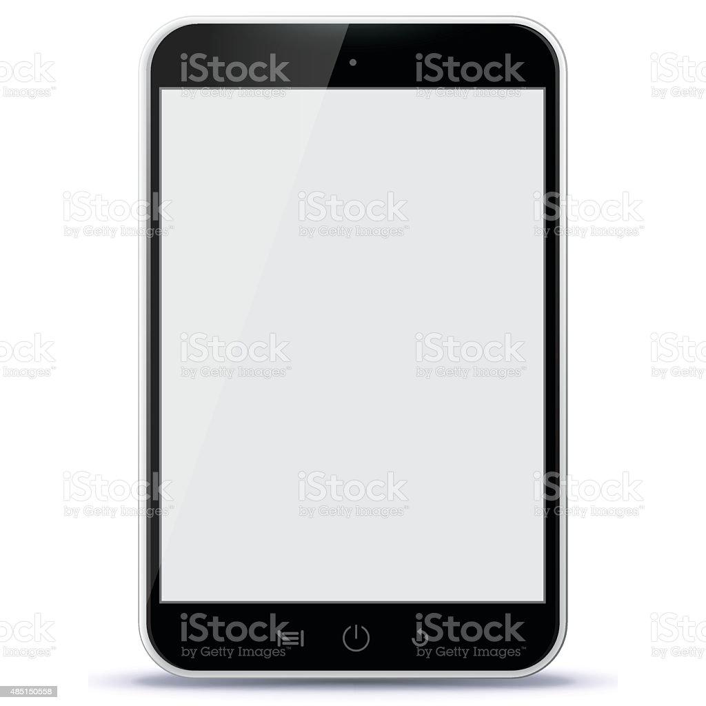 Black Tablet PC Vector Illustration. vector art illustration