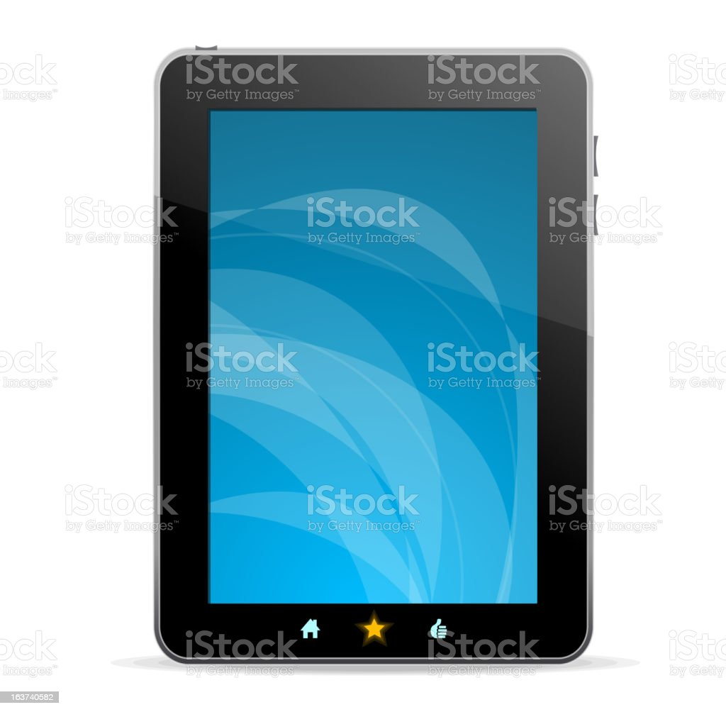 Black tablet vector art illustration