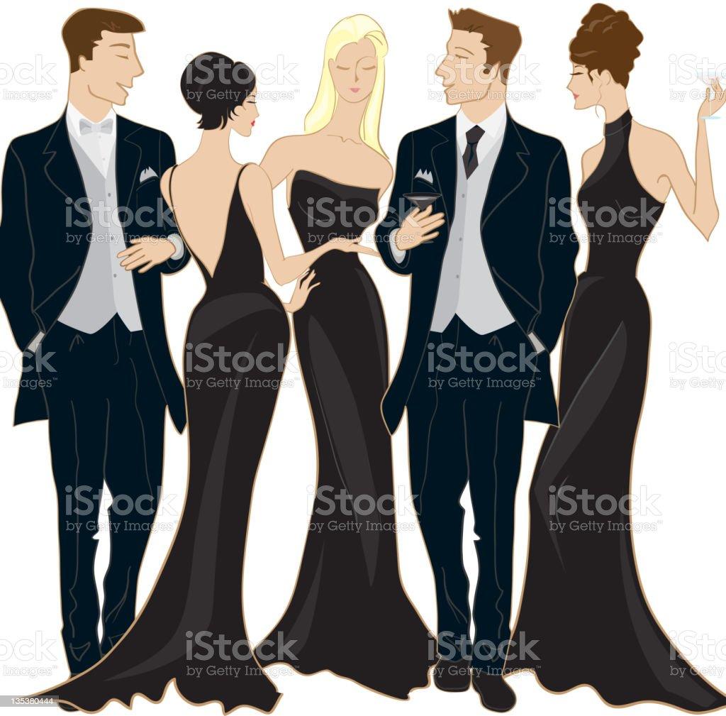 Black Tie Event vector art illustration