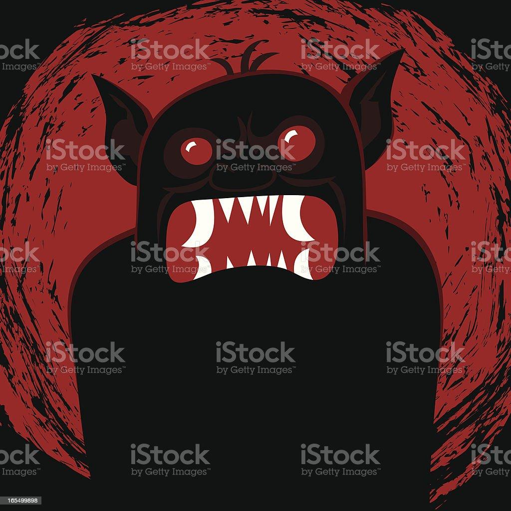 Black Troll vector art illustration