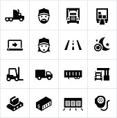 Black Trucking Icons