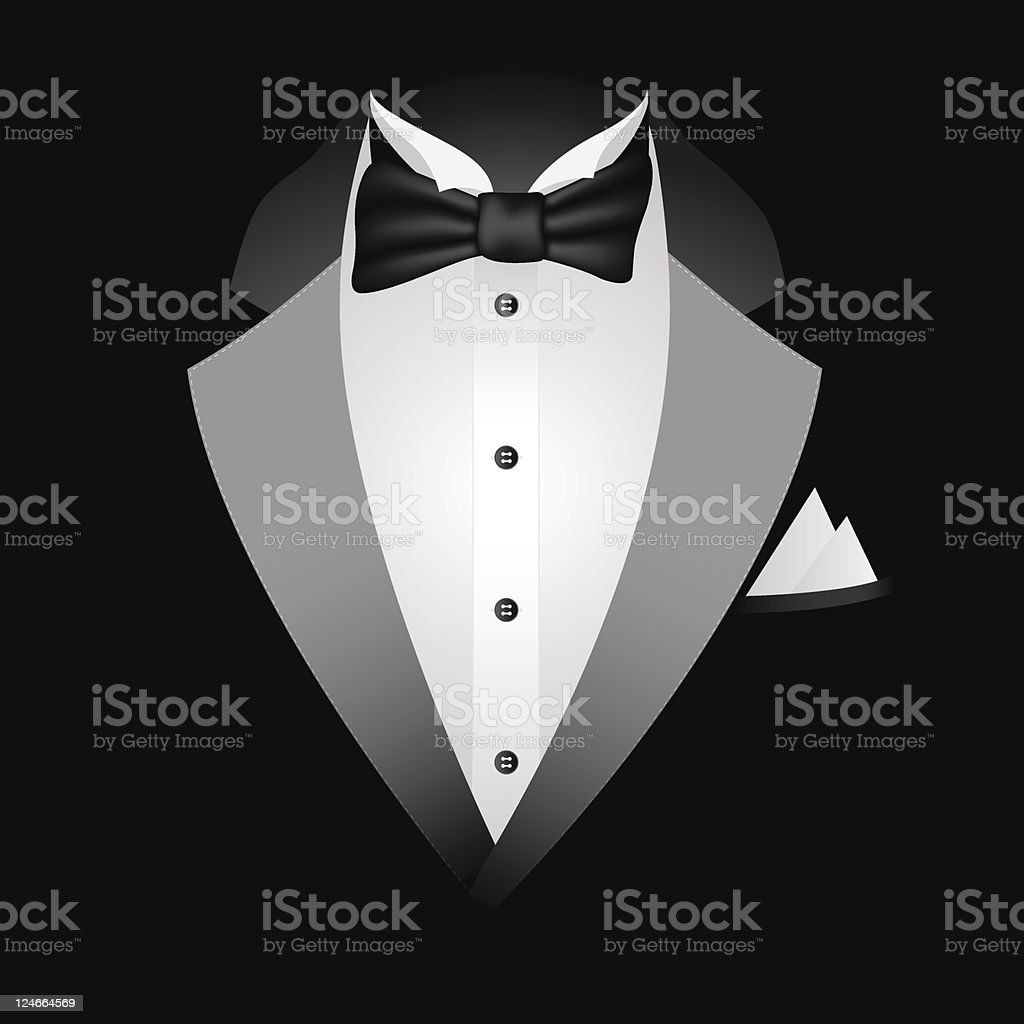 Black Tuxedo vector art illustration