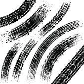Black tyre tracks