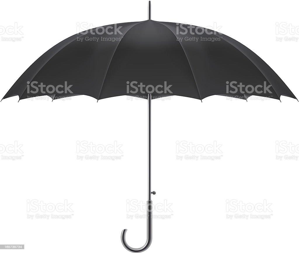 Black umbrella royalty-free stock vector art