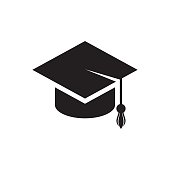 Black vector flat education icon isolated
