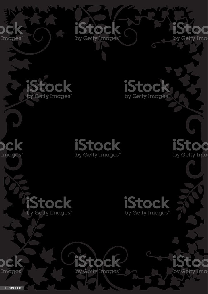 Black vector floral frame royalty-free stock vector art
