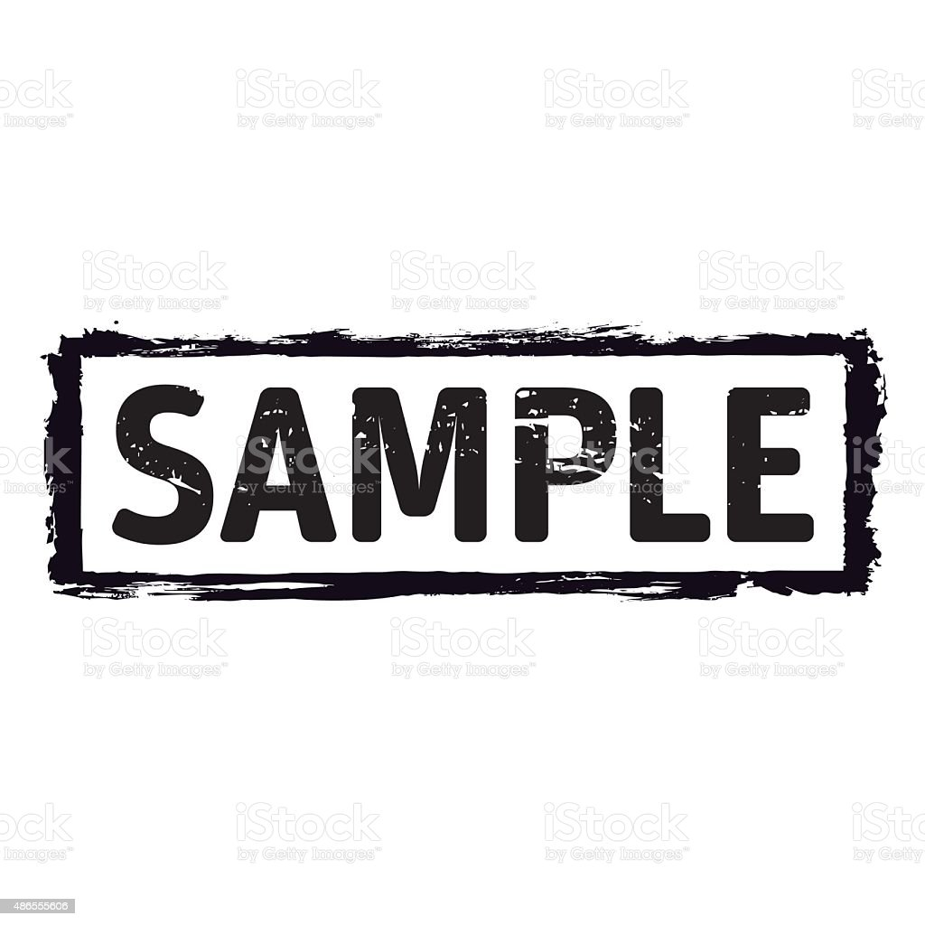Black vector grunge stamp SAMPLE vector art illustration