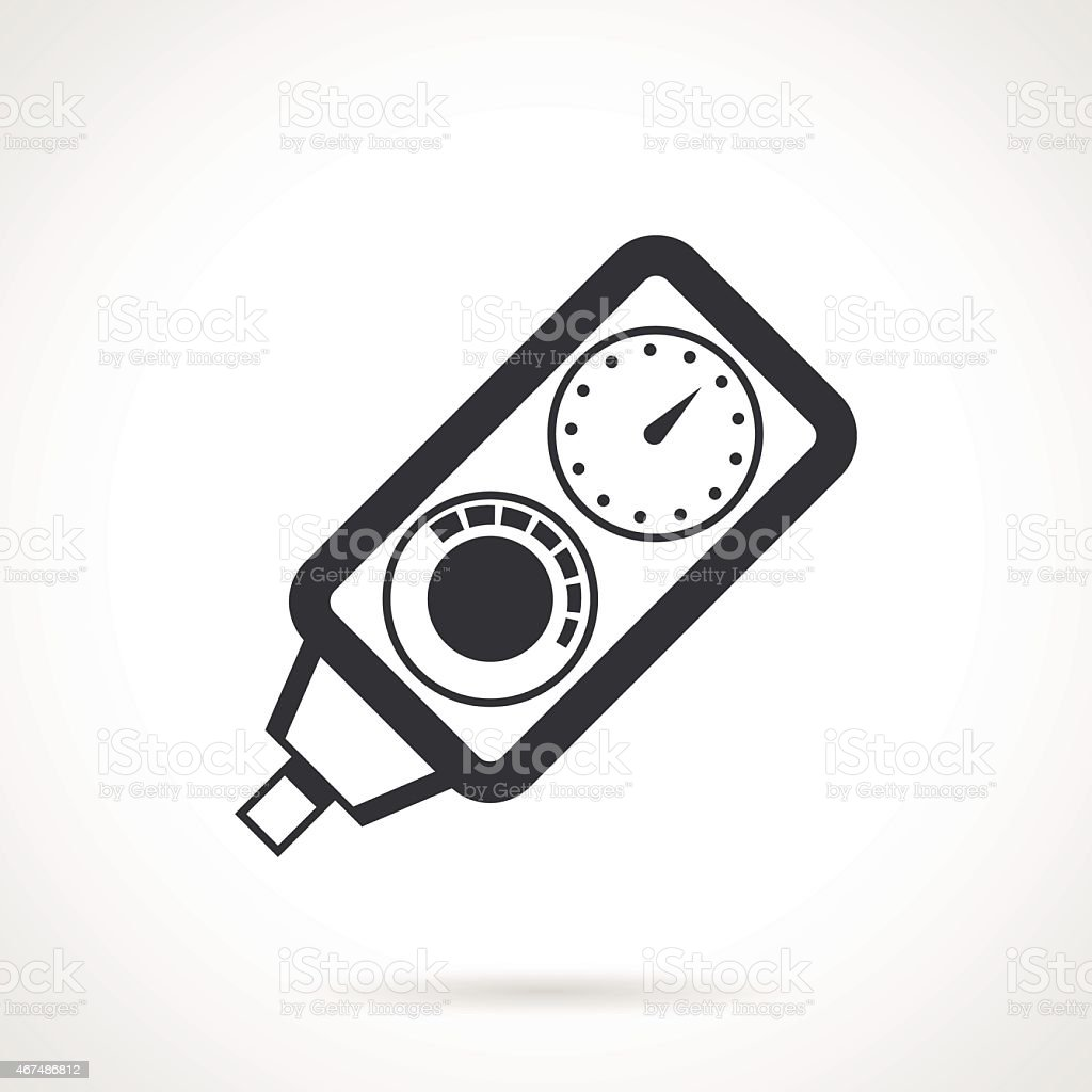 Black vector icon for diving console vector art illustration