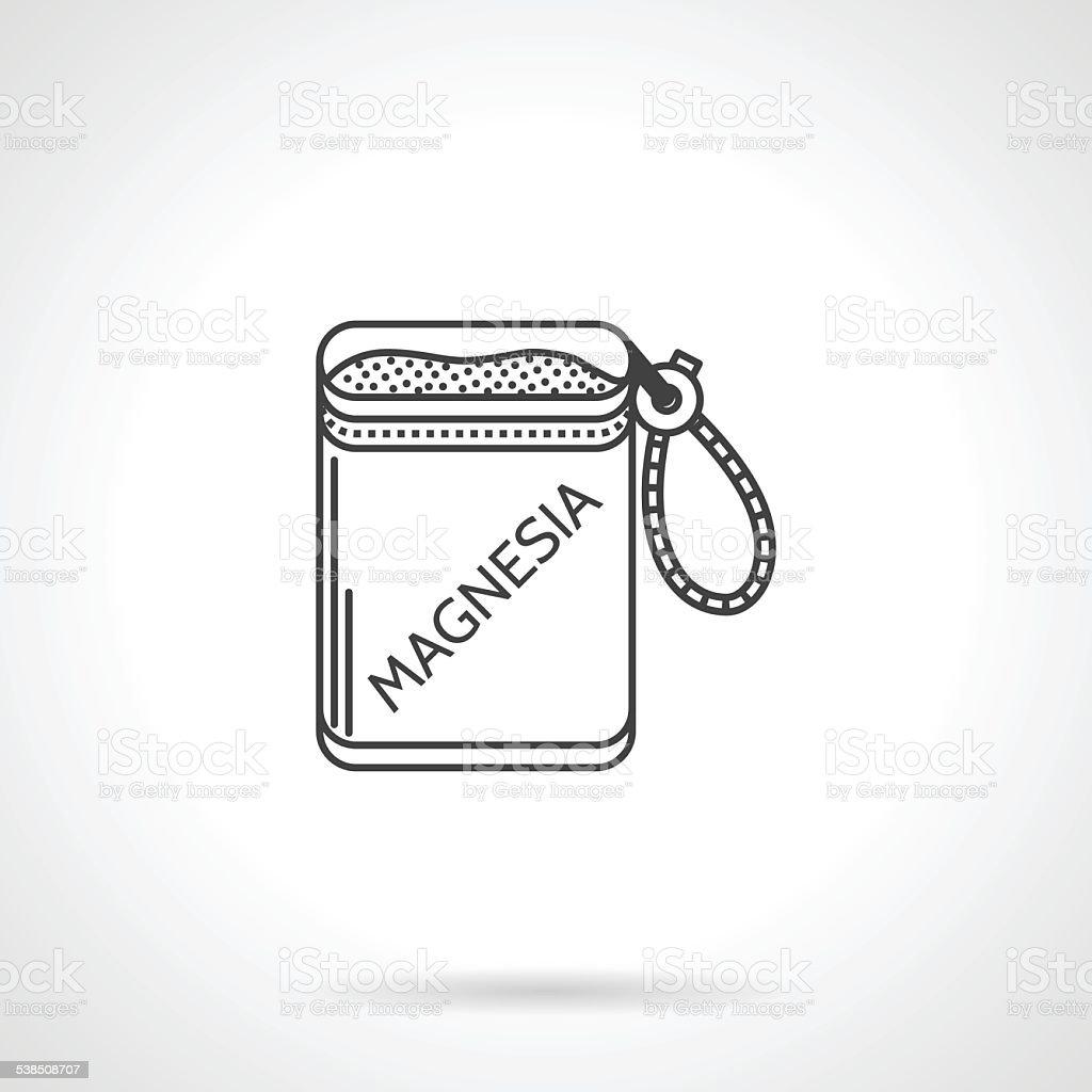 Black vector icon for magnesium bag vector art illustration