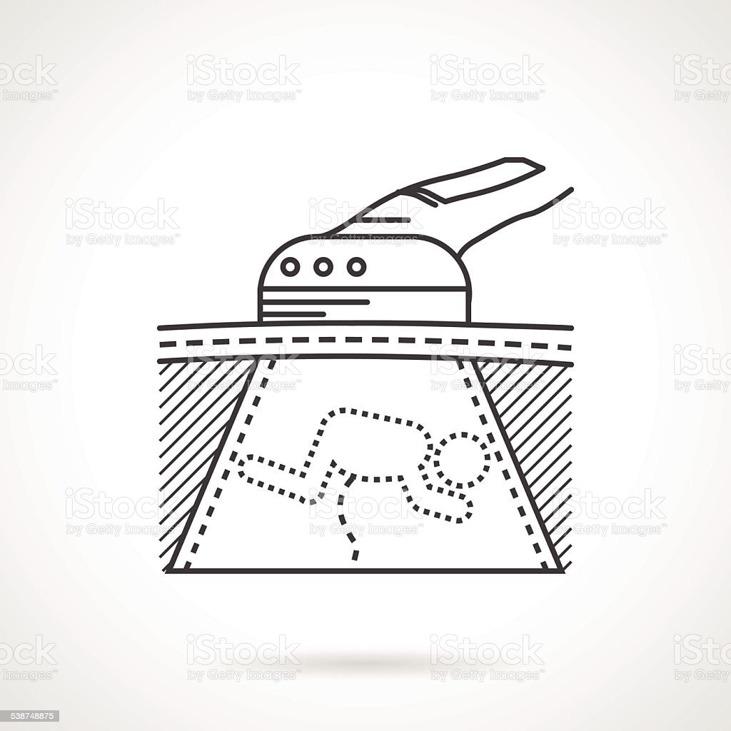 Black vector icon for ultrasound scan vector art illustration
