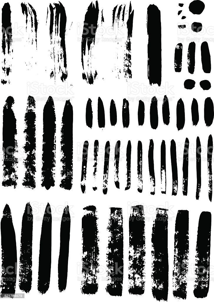black vector art illustration