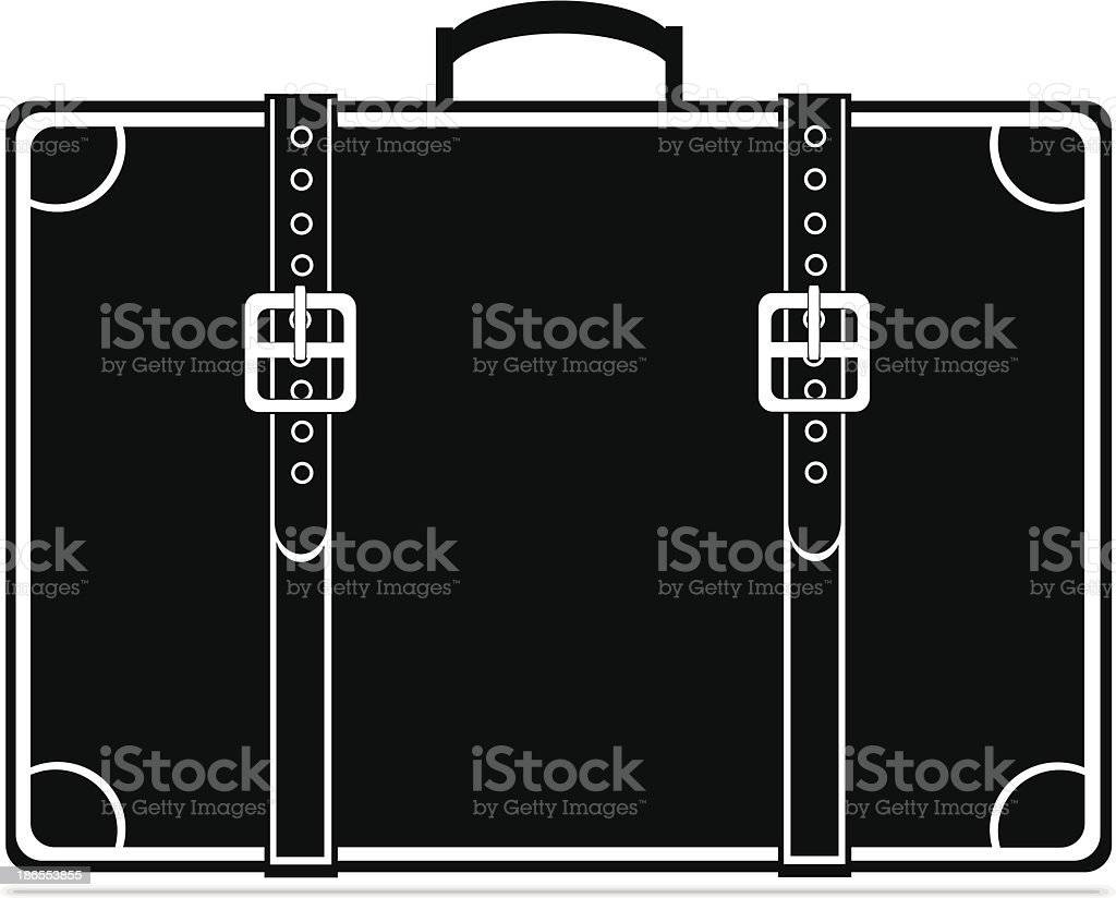 Black vintage briefcase royalty-free stock vector art