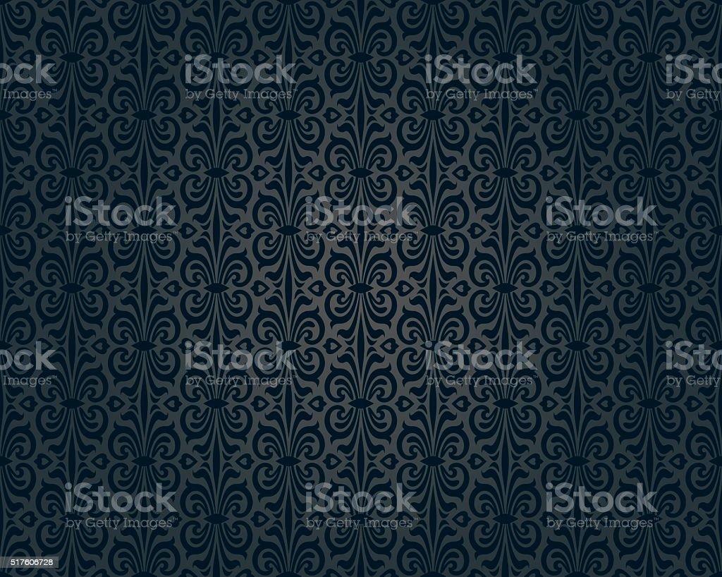 black vintage wallpaper background repetitive design vector art illustration
