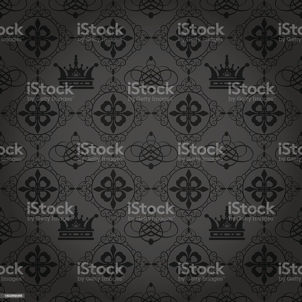 black wallpaper in old style royalty-free stock vector art