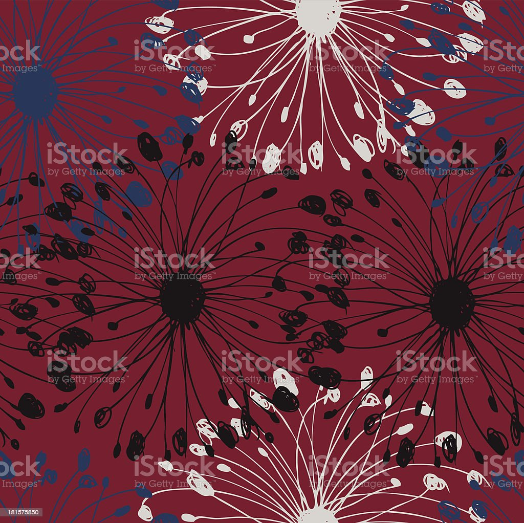 Black, white and blue grunge radial pattern royalty-free stock vector art