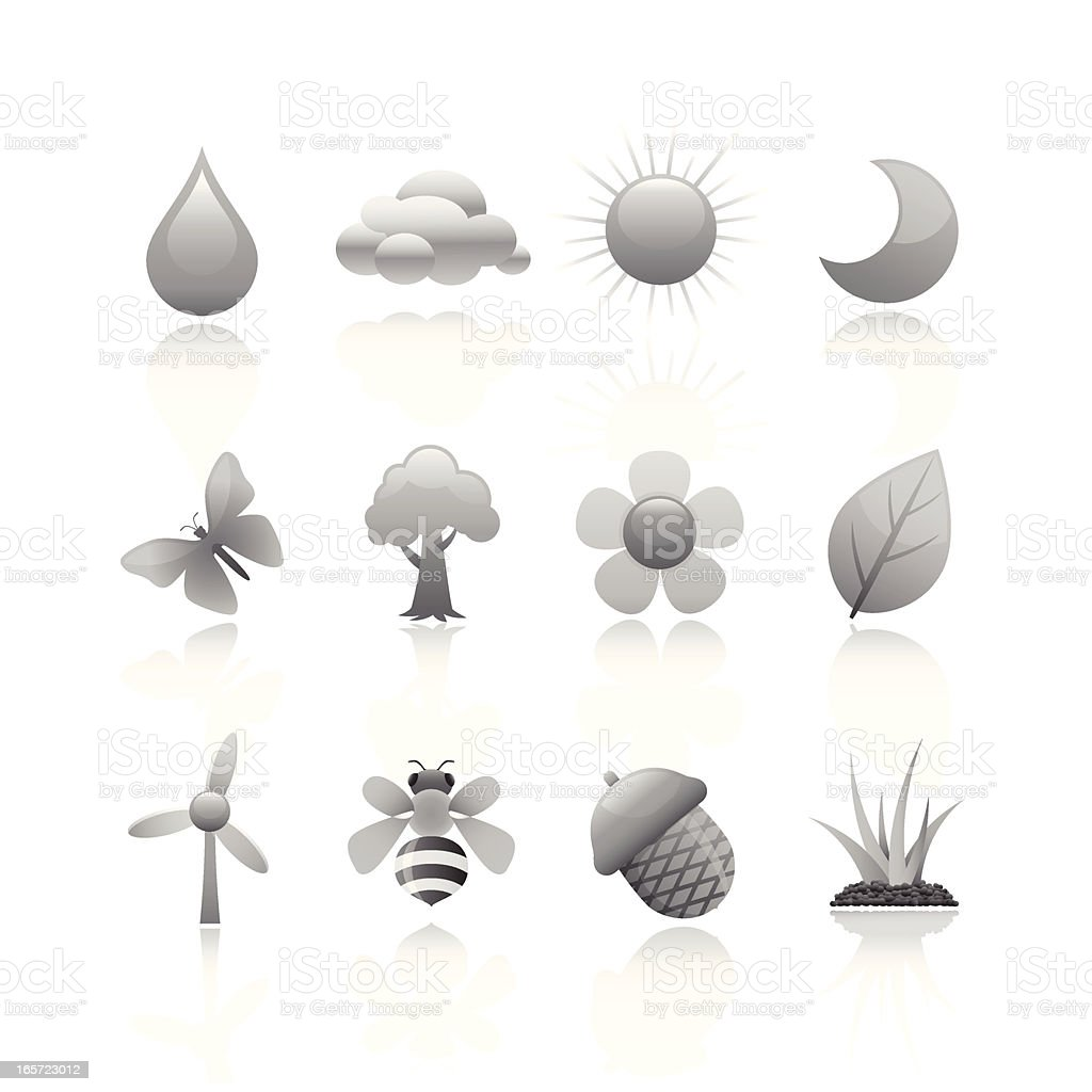 Black & White Icon - Environment royalty-free stock vector art