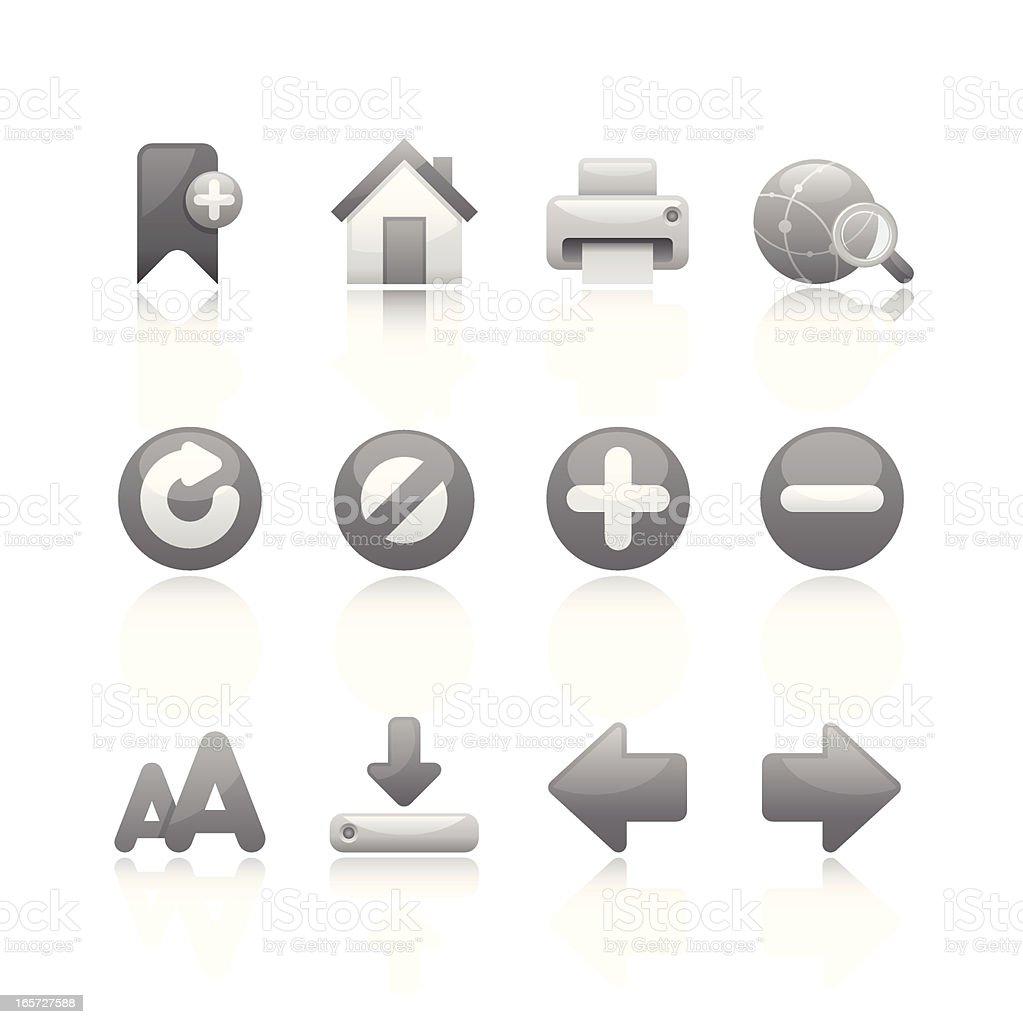 Black & White Icon - Internet Browser vector art illustration