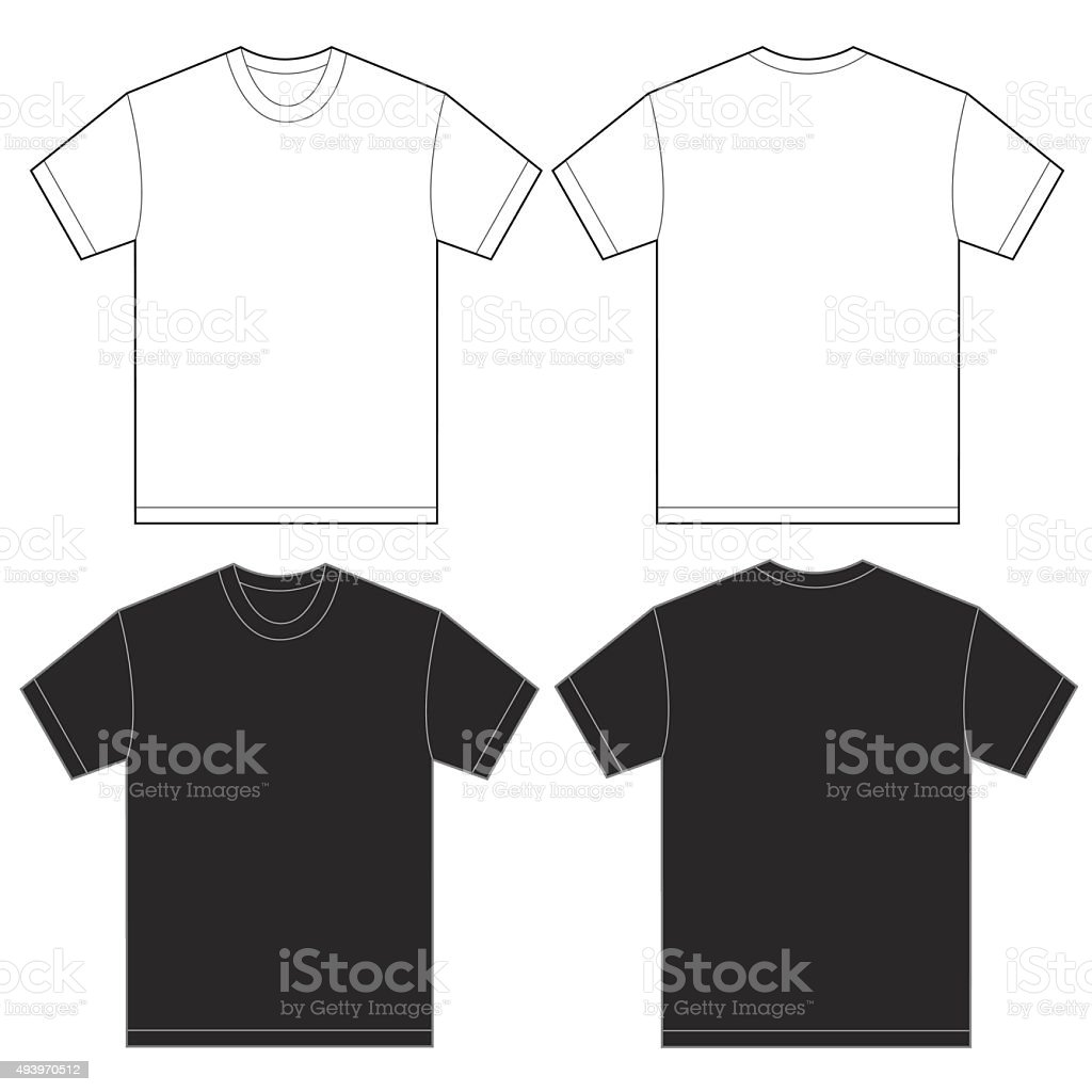 Black White Shirt Design Template For Men vector art illustration