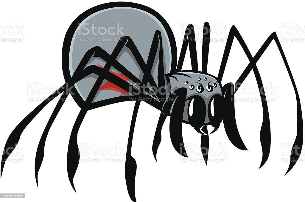 Black Widow Spider Vector Illustration vector art illustration