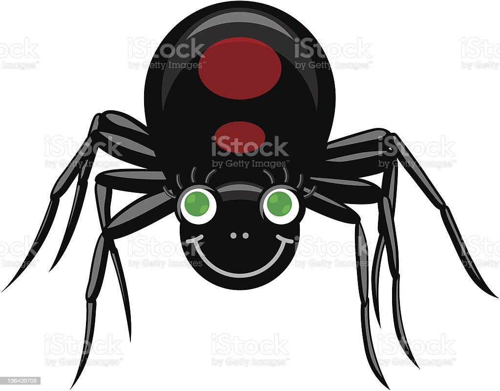 Black Widow royalty-free stock vector art