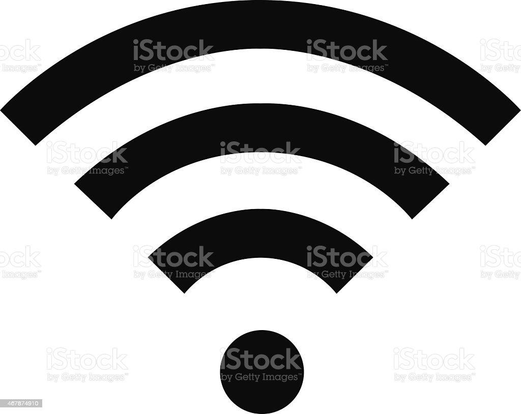 Black Wi-fi logo vector art illustration