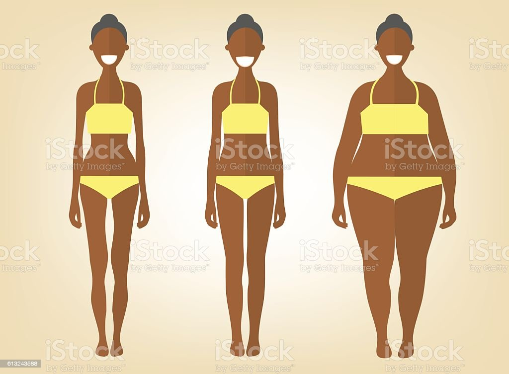 Black woman in different forms, flat style vector illustrations vector art illustration