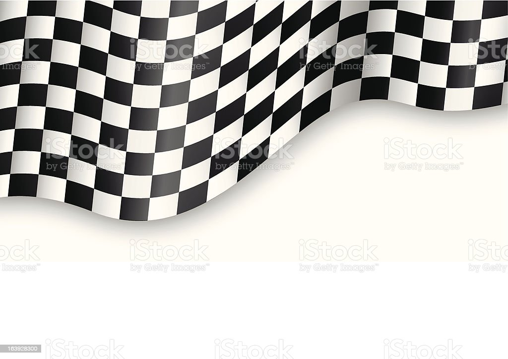 A black-and-white checkered flag royalty-free stock vector art